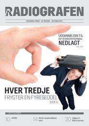 Radiografen 08, oktober 2012, årgang 40 - Foreningen af ...
