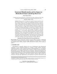 Structural Bioinformatics and its Impact to Biomedical Science and ...