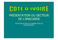 Présentation Filière Anacarde Ivoirienne Mme Toure FR