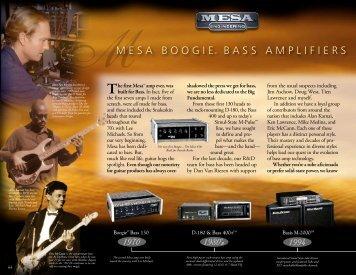 Bass Intro - Mesa Boogie