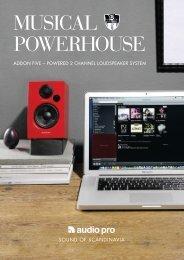 Informacion altavoces Audio Pro Addon Five - Novomusica