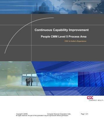 Continuous Capability Improvement - CSC