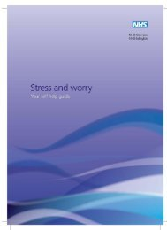 Stress and worry A5 2010 - London Health Programmes