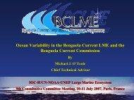 benguela current commission - Large Marine Ecosystems of the ...