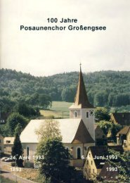 Chronik 100 Jahre Posaunenchor Großengsee - Ev ...