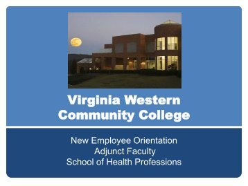 Health Professions - Virginia Western Community College