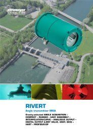 RIVERT Angle transmitter MGA - Rittmeyer
