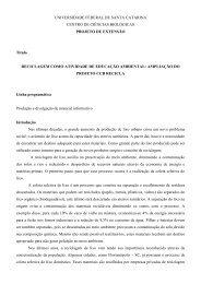 Projeto de Extensão: Coleta seletiva de lixo - CCB Recicla
