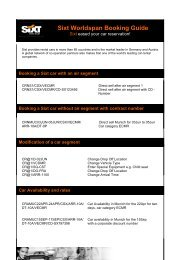 Sixt Worldspan Booking Guide