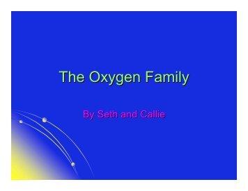 The Oxygen Family - Nichols School