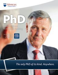PhD Brochure Download - The American College