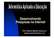 Desenvolvendo Pesquisas na Internet - Waltenomartins.com.br