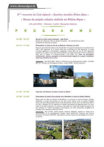 programme 8ème rencontre du Club QDRA_24 Avril 2012