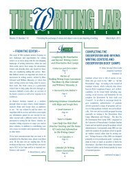 37.7-8 - The Writing Lab Newsletter