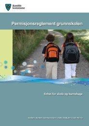 Permisjonsreglement grunnskolen - Bamble kommune