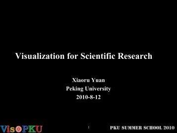 Visualization for Scientific Research