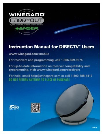 Instruction Manual for DIRECTV® Users - Winegard