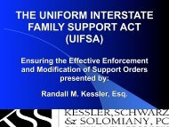the uniform interstate family support act (uifsa) - Atlanta - Divorce ...