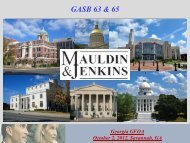 GASB 63 & 65 - Georgia Government Finance Officers Association