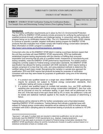 Directive 2011-04 - Energy Star