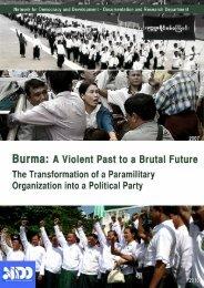 USDA transition to USDP report FINAL - Burma Campaign UK
