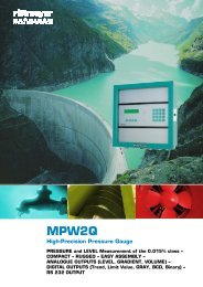 MPW2Q High-Precision Pressure Gauge - Rittmeyer