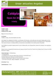 Coldplay Leipzig - Eventreisen - Trierischer Volksfreund