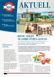 RISTIC FEIERT 50 JAHRE PUREN GENUSS - Ristic AG