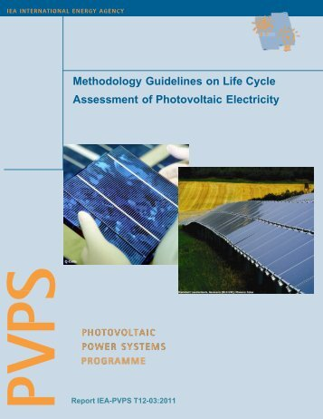 Methodology Guidelines on Life Cycle Assessment of Photovoltaic ...