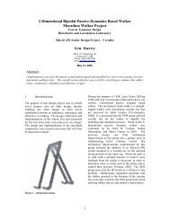 Ankle Actuation - Andy Ruina - Cornell University
