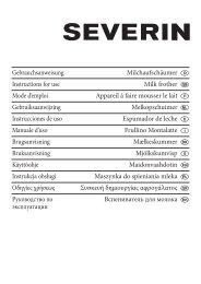 Gebrauchsanweisung Instructions for use Mode d'emploi ...