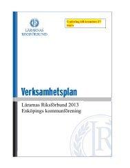 Verksamhetsplan 2013 - Lärarnas Riksförbund