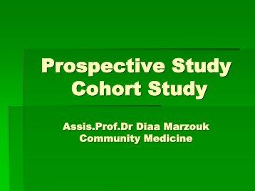 Prospective Study Cohort Study Assis.Prof.Dr ... - The INCLEN Trust