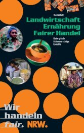 Landwirtschaft, Ernäherung und Fairer Handel - Eine Welt Netz NRW