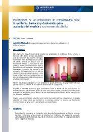 Investigación de las propiedades de compatibilidad entre ... - Aimplas
