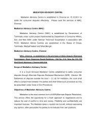 Mediation Advisory Centre, Chennai - Civil Supplies and Consumer ...