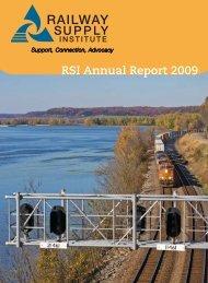 RSI Annual Report 2009 - Railway Supply Institute