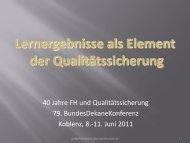 Lernergebnisse als Element der Qualitätssicherung (PDF)