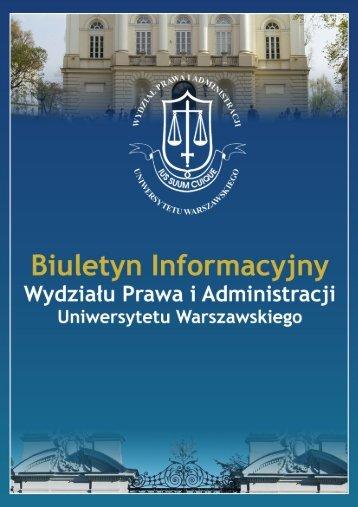 Biuletyn Informacyjny nr 17/2007 - Wydział Prawa i Administracji UW
