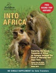 free rouNd-trip AirfAre! - National Audubon Society Get Outside