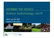 Defining the Issues - Science biotechnology and IP - Wageningen UR
