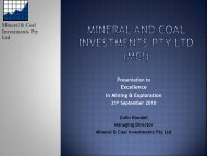 Excellence in Mining Conference September, 2010 - Gullewa Limited