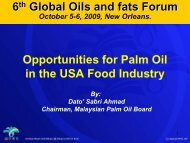 Opportunities for Palm Oil in the USA Food Industry Global Oils and ...