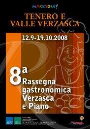 TENERO E VALLE Rassegna gastronomica Verzasca e ... - Ticino