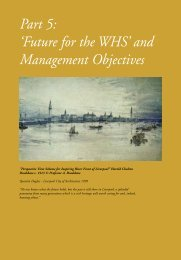Part 5: 'Future for the WHS' and Management Objectives