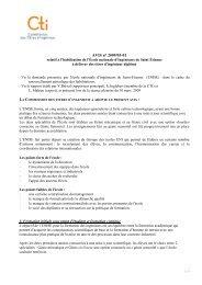 Avis ENI St Etienne - Commission des Titres d'Ingénieur