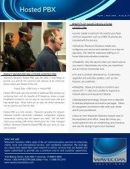 Hosted PBX - Wavecom Solutions