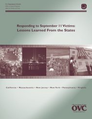 Responding to September 11 Victims - Readiness and Emergency ...