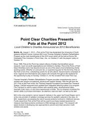 Point Clear Charities Presents Polo at the Point 2012 - University of ...