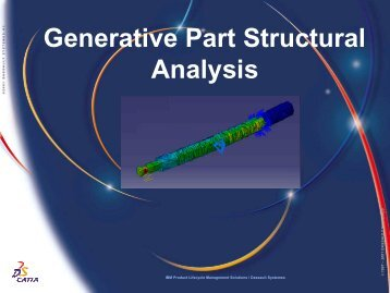 CATIA V5 Generative Part Structural Analysis